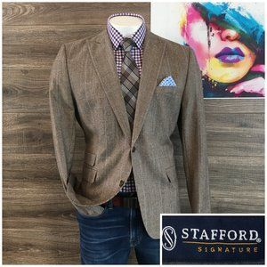 Stafford Mens Slim Fit Wool Sport Coat Blazer